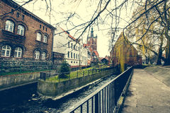 Houses in cener of Gdansk Royalty Free Stock Photos