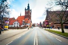 Houses in cener of Gdansk Royalty Free Stock Image