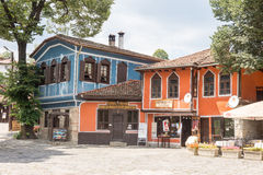 Houses in the central spare Koprivshtitsa in Bulgaria Stock Photos