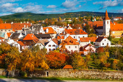 Houses in Cesky Krumlov Royalty Free Stock Photos