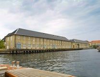 Houses in the channel. S of Copenhagen, Denmark Stock Photography