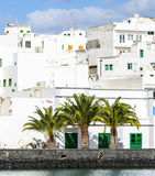 Houses at the Charco de San Gines, Arrecife, Royalty Free Stock Photo