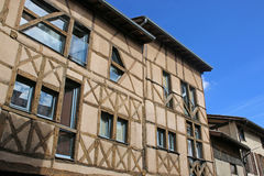Houses in Chatillon-sur-Chalaronne, France Royalty Free Stock Images