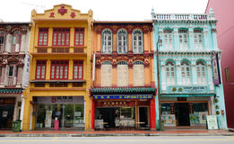 Houses at Chinatown in Singapore Royalty Free Stock Photo