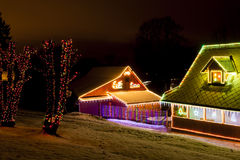 Houses at Christmas Royalty Free Stock Images