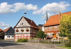 Houses and church in Bavaria Stock Image