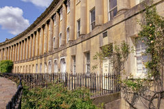 Houses Circus in Bath, Somerset, England. The Circus, landmark architectural example of a georgian architecture, by architect John Wood, the Elder in Bath Stock Photography