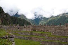 Houses for citizens at Machu Picchu Royalty Free Stock Photos