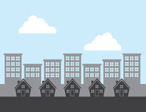 Houses City Background Royalty Free Stock Photography
