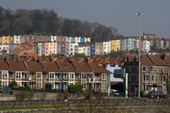 Houses in the City of Bristol,. Old and colourful homes in the city of Bristol in England Royalty Free Stock Photos