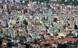 Houses in the city cener of Alanya Royalty Free Stock Images