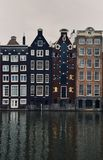 The houses of the city center of Amsterdam stock photography