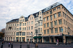 Houses in city center Royalty Free Stock Photo
