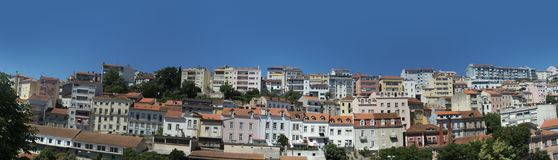 Houses in the city of coimbra, portugal Stock Image