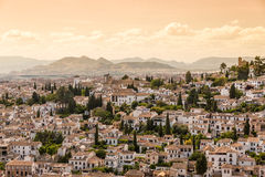 Houses in the city of Granada, Andalusia, Spain Stock Photo