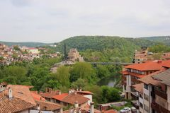 Houses from a mountain city. Houses from the city of Veliko Tarnovo, Bulgaria Stock Images