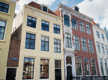 Houses in the city of Vlissingen, Netherlands. Text on facade reads Built In 1771 Royalty Free Stock Photo