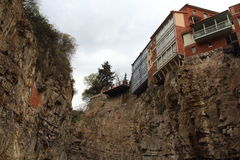 Houses on cliff Royalty Free Stock Photography