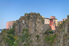 Houses on the cliff. Royalty Free Stock Image