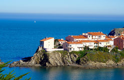 Houses on a cliff Stock Images