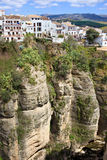 Houses on a Cliff in Ronda Stock Images