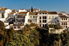 Houses on the Cliff in Ronda Royalty Free Stock Images