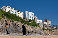 Houses on cliffs Stock Image