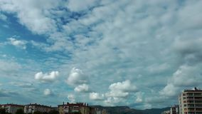 Houses and Clouds Time Lapse. Houses and the Clouds Time Lapse video stock video