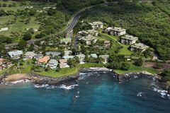 Houses on coast. Stock Image
