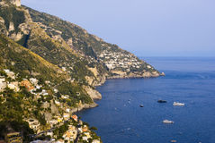 The houses on the coast of Amalfi Stock Photo