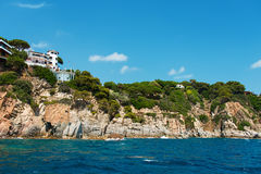 Houses at coast of Costa Brava Spain Stock Photography