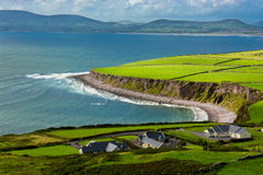 Houses at the Coast of Ireland Royalty Free Stock Image