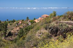 Houses at coast of La Palma, Canary Islands Stock Photos