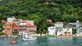Houses At The Coastline Of Anadolu Kavagi, Istanbul, Turkey Royalty Free Stock Photography