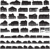 Houses collection real estate icon Stock Photos