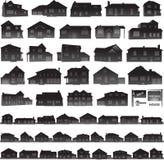 Houses collection real estate icon Stock Photos