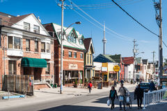 Houses on College Street West, Toronto Stock Photos