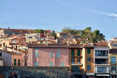 Houses in Collioure royalty free stock photography
