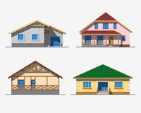 Houses 1 color Royalty Free Stock Image