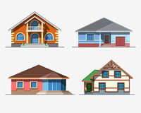 Houses 3 color Royalty Free Stock Photo
