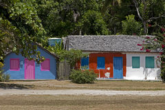 Houses with colorful facade, typical of Trancoso, Bahia Royalty Free Stock Images
