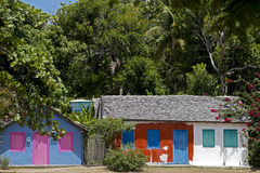 Houses with colorful facade, typical of Trancoso, Bahia Stock Images