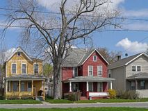 Houses with colorful siding Stock Photo