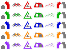 Houses and Construction Vector Logo Icon Designs Stock Images