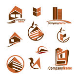 Houses and Construction Vector Logo Icon Designs Royalty Free Stock Image