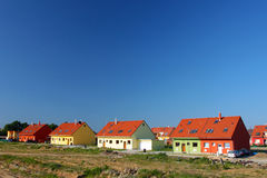 Houses with copy space Stock Photo