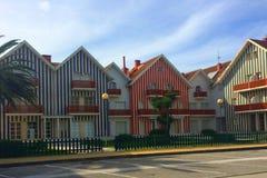 Houses in Costa Nova Stock Photos