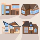 Houses, cottages, buildings, villas, architecture Stock Photos