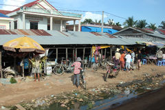 Houses in the countryside of Cambodia royalty free stock images