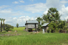Houses in the countryside of Cambodia Royalty Free Stock Photography